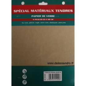 Papier de verre matériaux tendres